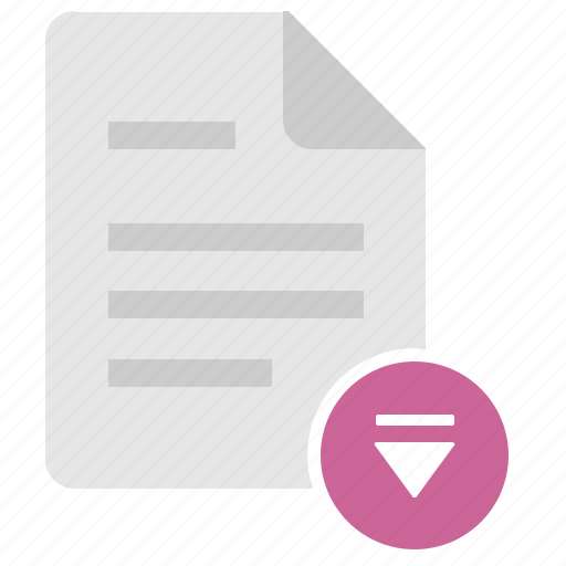 doc, document, download, eject, file icon