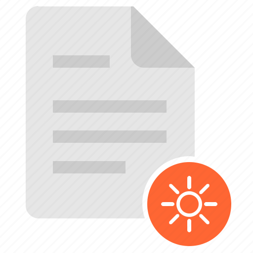bright, brightness, color, doc, document, file, settings icon