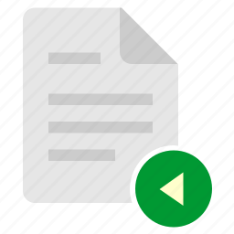 doc, document, file, left, navigation icon