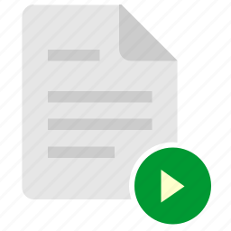 doc, document, file, navigation, right icon