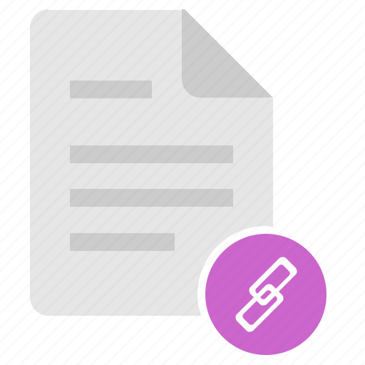 doc, document, file, link, url icon