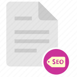 doc, document, file, keywords, seo icon