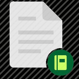 book, doc, document, ebook, file, glossary icon