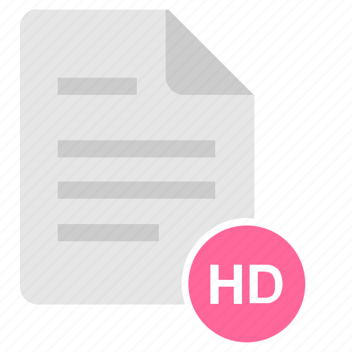 definition, doc, document, file, hd, high icon