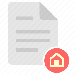 doc, document, file, home, house icon