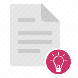 doc, document, file, idea, message, news, text icon