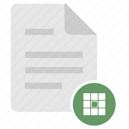 data, doc, document, file, matrix, table icon