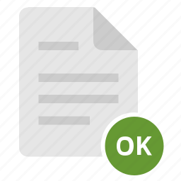 accept, complete, doc, document, file, ok icon