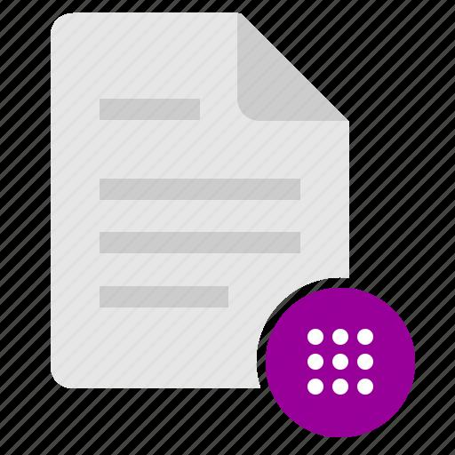 code, doc, document, file, password, pin icon