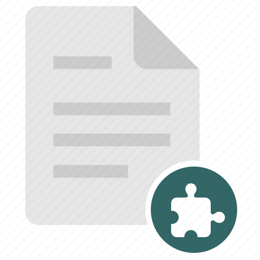 detail, doc, document, file, key, puzzle icon
