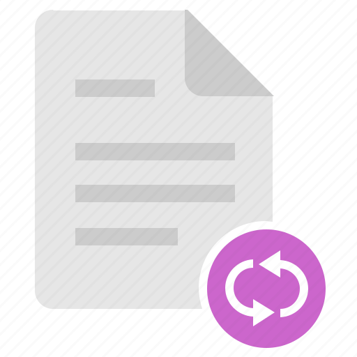 doc, document, file, reload icon