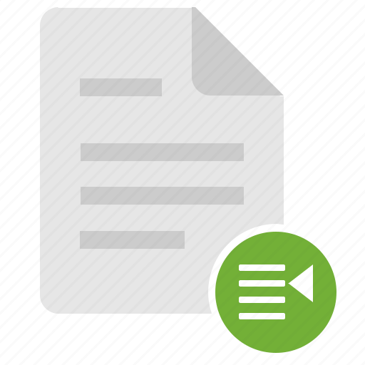doc, document, file, list, listing, report icon