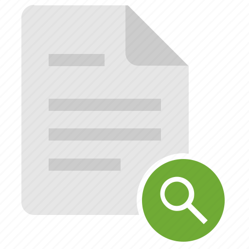 data, doc, document, file, find, search, tool icon