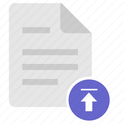 doc, document, file, info, upload icon
