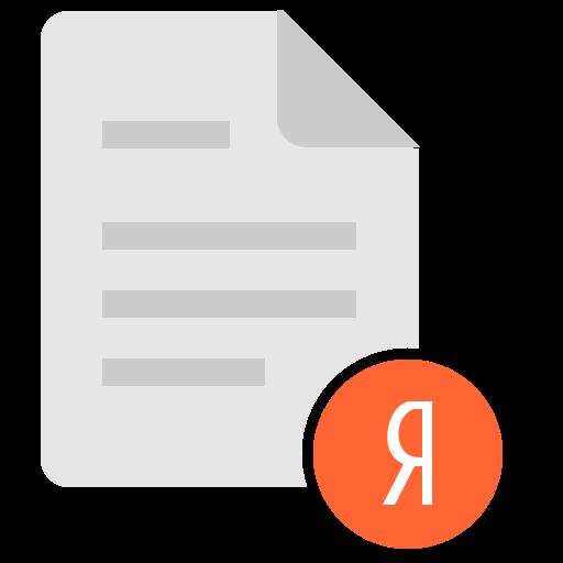 doc, document, file, ya, yandex icon