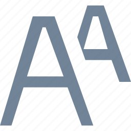 a, editing, formatting, letters, line icon
