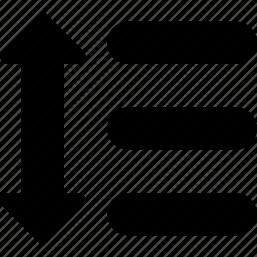 list, reorder icon