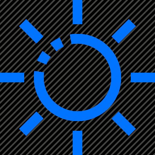 brightness, editor, sun icon