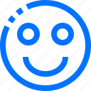 editor, emoticons, face, insert, smile icon