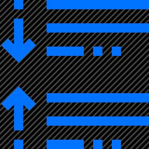 after, between, decrease, editor, paragraph, space icon