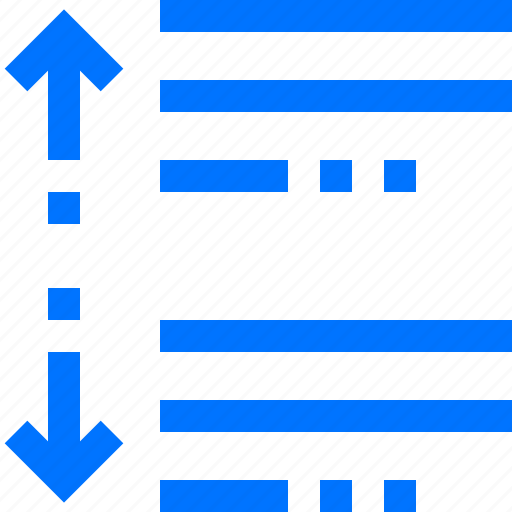 before, between, editor, increase, paragraph, space icon