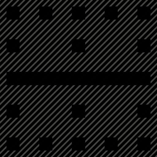border, horizontal icon