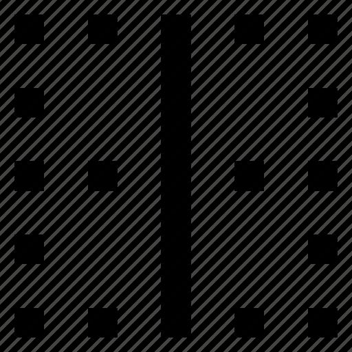 border, vertical icon