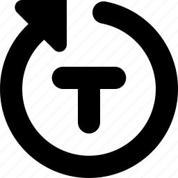 rotate, type icon