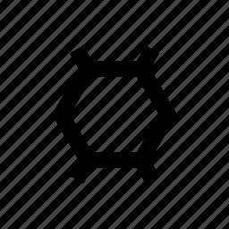 design, hexagon, media, shape, social icon
