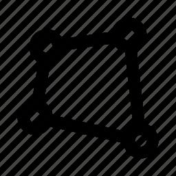 design, path, point, vector graphics icon