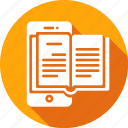 application, book, mobile, reader icon