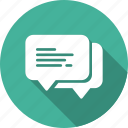 bubble, chat, feedback, message, support, talk icon