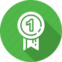 achievement, award, badge, medal, prize, ribbon, senator icon
