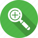 add, checkmark, done, explore, find, magnifier, search icon