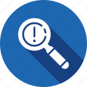 checkmark, done, error, explore, find, magnifier, search icon