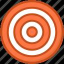 bullseye, dartboard, goal, shooting dart, target icon