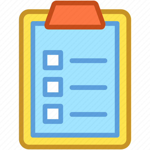 checklist, clipboard, list, memo, to do icon