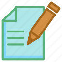 composing, edit, pencil, sheet, writing icon