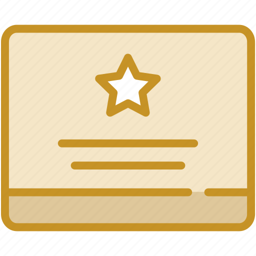 certificate, document, favorite, important, merit icon