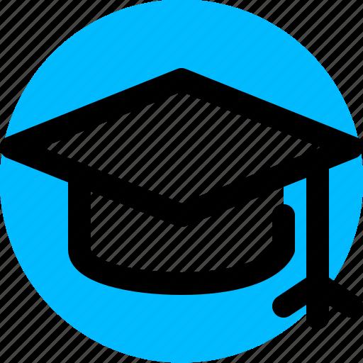 degree, education, graduation, hat icon