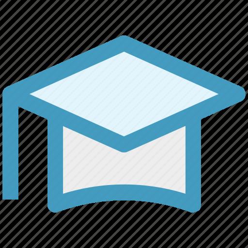 cap, degree, diploma, education, graduation, graduation cap icon