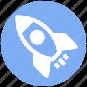 rocket, rocket ship, ship, space, space ship, transportation icon