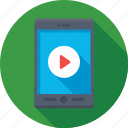 mobile, mobile video, video, video player, video streaming icon