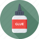 adhesive, glue, glue bottle, gum bottle, stationery glue icon