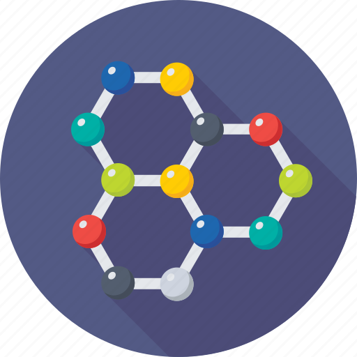 atom bond, atom structure, electron, molecular bond, molecule icon