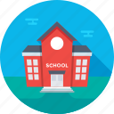 home, house, institute building, school, school building icon