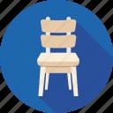 chair, classroom chair, computer chair, desk chair, student chair