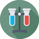 chemistry, flask, lab, laboratory, test tubes icon