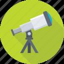 planetarium, astronomy, spyglass, telescope, vision icon