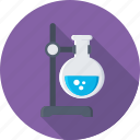 flask, lab research, experiment, spirit lamp, laboratory